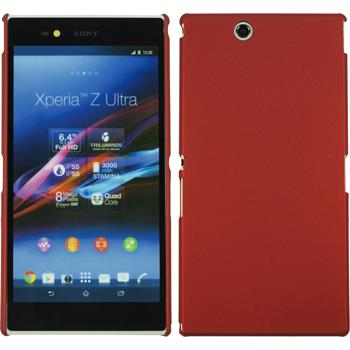 Hardcase for Sony Xperia Z Ultra rubberized red
