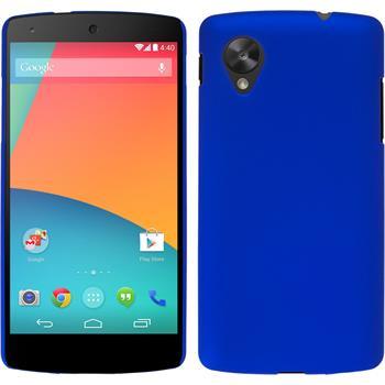 Hardcase Nexus 5 gummiert blau