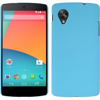 Hardcase for Google Nexus 5 rubberized light blue