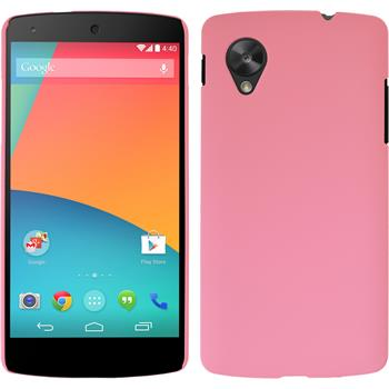 Hardcase for Google Nexus 5 rubberized pink