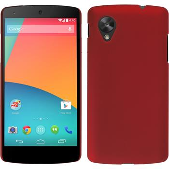 Hardcase for Google Nexus 5 rubberized red