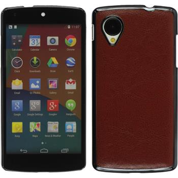 Hardcase for Google Nexus 5 leather optics brown