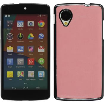 Hardcase for Google Nexus 5 leather optics pink