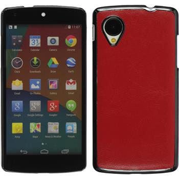 Hardcase for Google Nexus 5 leather optics red