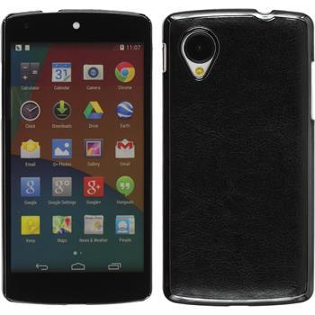 Hardcase for Google Nexus 5 leather optics black