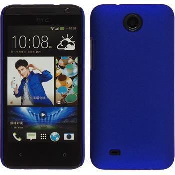 Hardcase for HTC Desire 300 rubberized blue