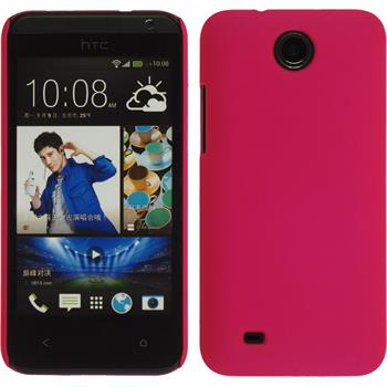 Hardcase for HTC Desire 300 rubberized hot pink
