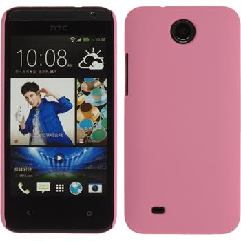 Hardcase for HTC Desire 300 rubberized pink