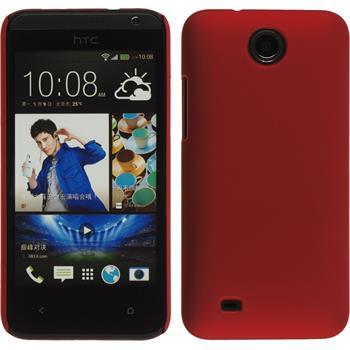 Hardcase für HTC Desire 300 gummiert rot