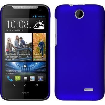 Hardcase für HTC Desire 310 gummiert blau