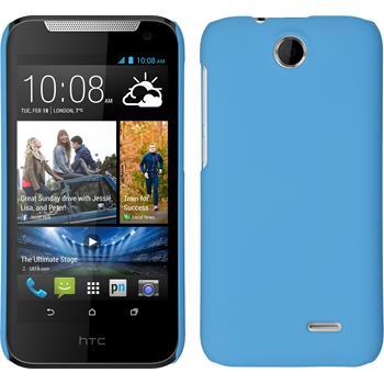 Hardcase für HTC Desire 310 gummiert hellblau