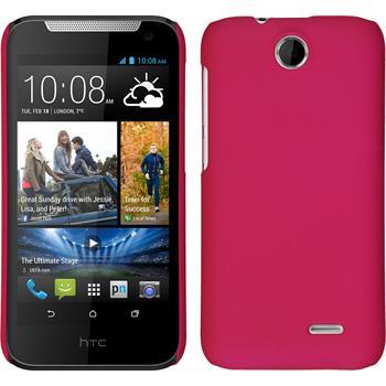 Hardcase für HTC Desire 310 gummiert pink