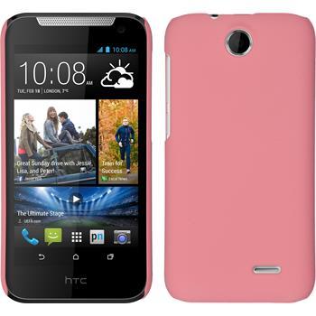Hardcase für HTC Desire 310 gummiert rosa