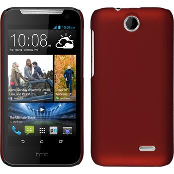 Hardcase for HTC Desire 310 rubberized red
