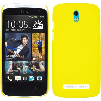 Hardcase for HTC Desire 500 rubberized yellow