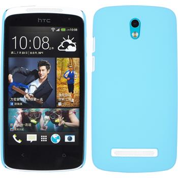 Hardcase for HTC Desire 500 rubberized light blue