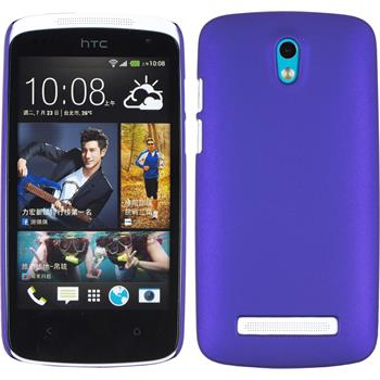 Hardcase for HTC Desire 500 rubberized purple