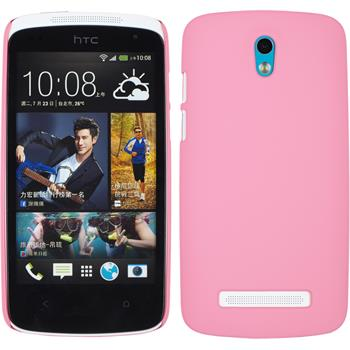 Hardcase for HTC Desire 500 rubberized pink