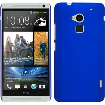 Hardcase for HTC One Max rubberized blue