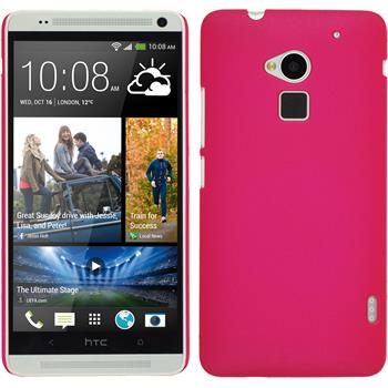 Hardcase for HTC One Max rubberized hot pink