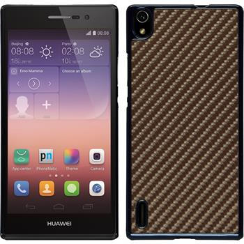 Hardcase for Huawei Ascend P7 carbon optics bronze