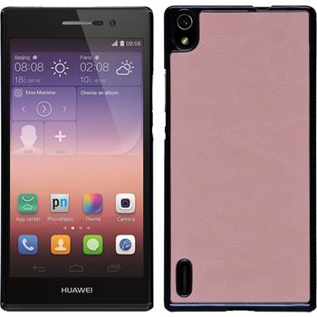 Hardcase for Huawei Ascend P7 leather optics pink