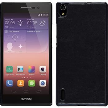 Hardcase für Huawei Ascend P7 Lederoptik schwarz