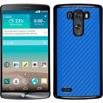 Hardcase für LG G3 Carbonoptik blau