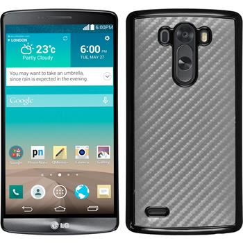 Hardcase for LG G3 carbon optics silver