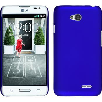 Hardcase for LG L70 rubberized blue