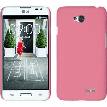 Hardcase für LG L70 gummiert rosa