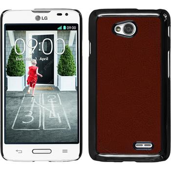 Hardcase for LG L70 leather optics brown