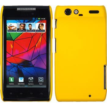 Hardcase für Motorola Razr gummiert gelb