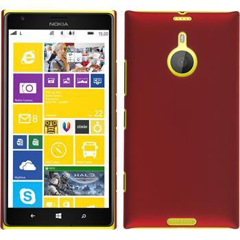 Hardcase für Nokia Lumia 1520 gummiert rot