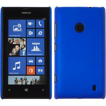Hardcase für Nokia Lumia 520 gummiert blau