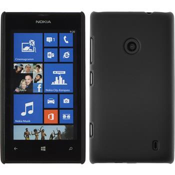 Hardcase Lumia 520 gummiert schwarz
