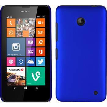 Hardcase Nokia Lumia 630 gummiert blau + 2 Schutzfolien