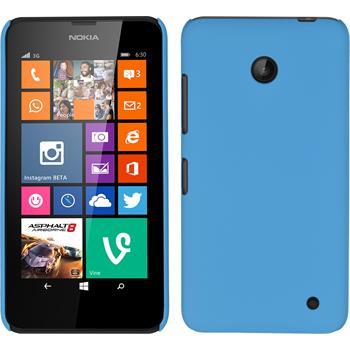 Hardcase Lumia 630 gummiert hellblau