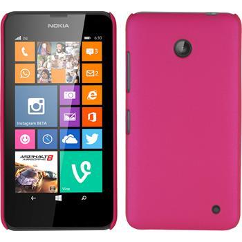 Hardcase for Nokia Lumia 630 rubberized hot pink