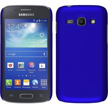 Hardcase Galaxy Ace 3 gummiert blau