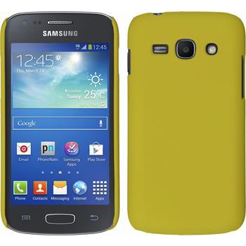 Hardcase Galaxy Ace 3 gummiert gelb