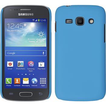 Hardcase Galaxy Ace 3 gummiert hellblau