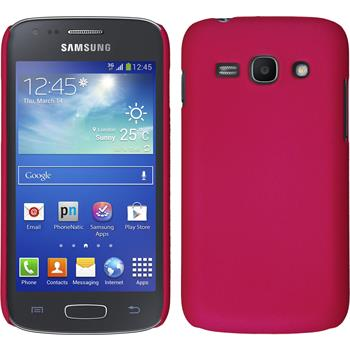 Hardcase Galaxy Ace 3 gummiert pink