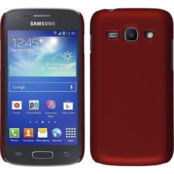 Hardcase Galaxy Ace 3 gummiert rot