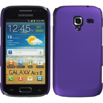 Hardcase for Samsung Galaxy Ace 2 rubberized purple