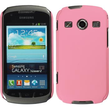 Hardcase for Samsung Galaxy Xcover 2 rubberized pink
