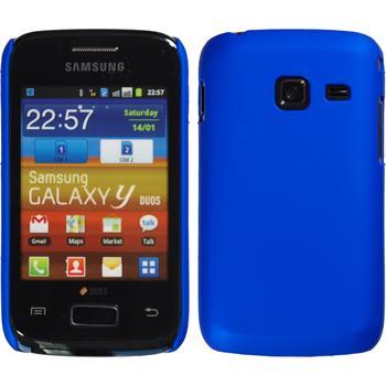 Hardcase Galaxy Y Duos gummiert blau