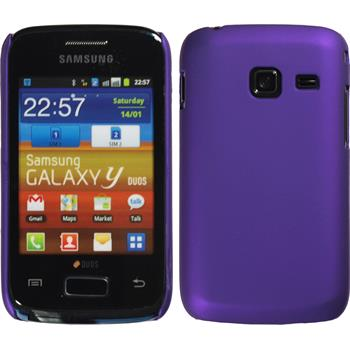 Hardcase for Samsung Galaxy Y Duos rubberized purple