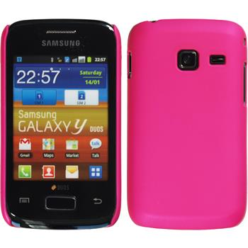 Hardcase for Samsung Galaxy Y Duos rubberized hot pink
