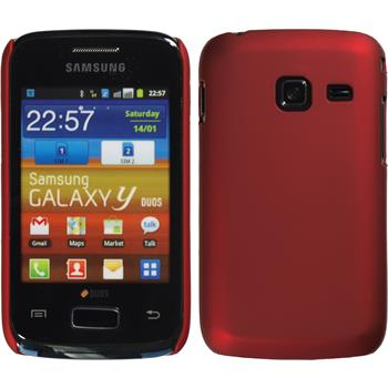 Hardcase for Samsung Galaxy Y Duos rubberized red